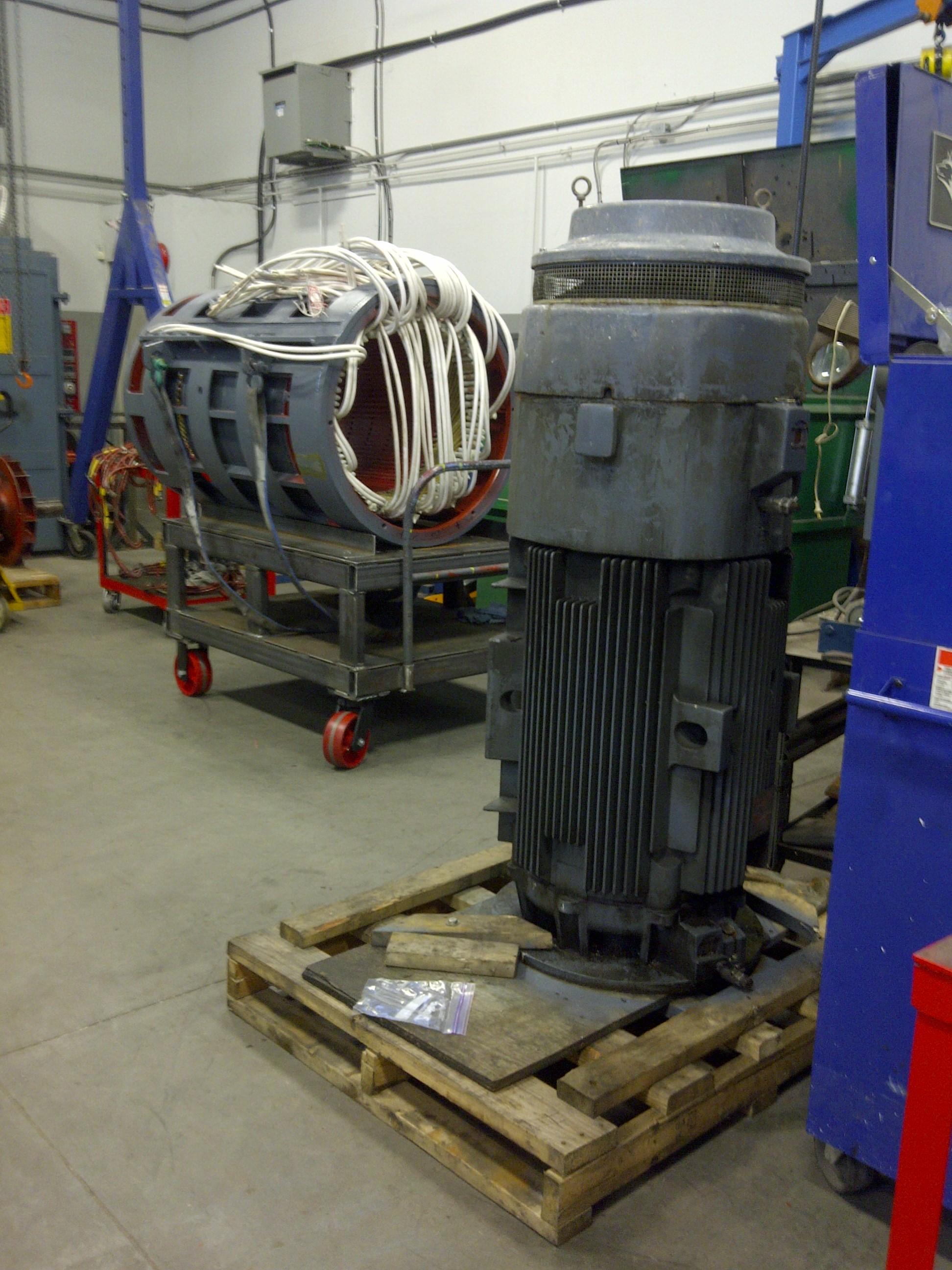 Electro motors vertical motor rewinding repair service for Electro craft corporation dc motors